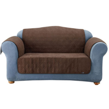 jcpenney.com | SURE FIT® Quilted Velvet Deluxe Sofa Pet Furniture Cover