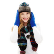 Mixit™ Jacquard Trapper Hat, Fair Isle Scarf or Fluffy Gloves