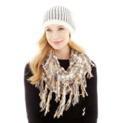 Olsenboye® Shiny Hat or Grunge Knit Loop Scarf