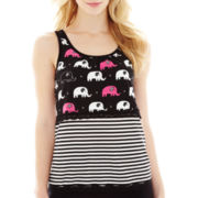 Insomniax® Mixed Print Layered Sleep Tank