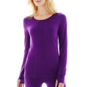 HotTotties Long-Sleeve Scoopneck Shirt