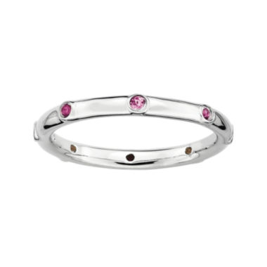 jcpenney.com | Personally Stackable Genuine Pink Tourmaline Sterling Silver Ring