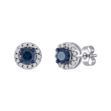 jcpenney.com | 1/2 CT. T.W. White and Color-Enhanced Blue Diamond Stud Earrings