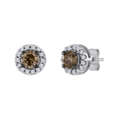 jcpenney.com | 1/2 CT. T.W. White and Champagne Diamond Stud Earrings