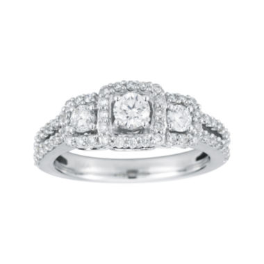 jcpenney.com | 1 CT. T.W. Certified Diamond 14K White Gold 3-Stone Engagement Ring