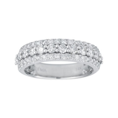 jcpenney.com | 1 CT. T.W. Certified Diamond 14K White Gold Triple-Row Band