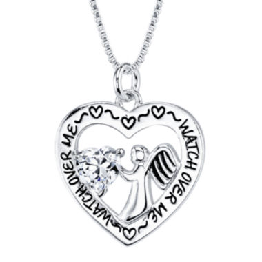 jcpenney.com | Inspired Moments™ Sterling Silver Cubic Zirconia Angel Pendant Necklace