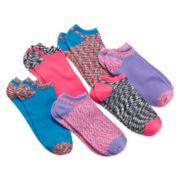Capelli of N.Y. 6-pk. Space Dye No-Show Socks – Girls