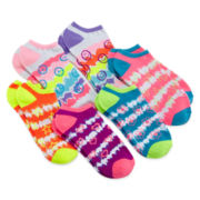 Capelli of N.Y. 6-pk. Tie-Dye No-Show Socks – Girls