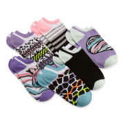 Capelli of N.Y. 6-pk. Animal Print No-Show Socks – Girls