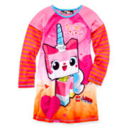 Lego Movie Unikitty Long-Sleeve Nightshirt – Girls 4-12
