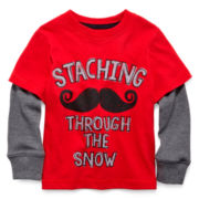 Arizona Long-Sleeve Graphic Knit Tee – Boys 2t-6