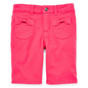 Arizona Bow Pocket Bermuda Shorts – Girls 4-6x