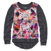 Self Esteem® Long-Sleeve High-Low Graphic Top – Girls 7-16 and Plus