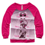 Beautees Long-Sleeve Rhinestone Animal Sweater – Girls 7-16
