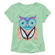 Arizona Short-Sleeve Graphic Knit Tee - Girls 7-16 and Plus
