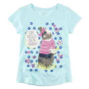 Arizona Short-Sleeve Graphic Knit Tee – Girls 7-16 and Plus