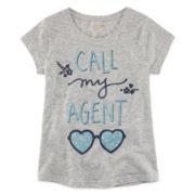 Arizona Short-Sleeve Graphic Knit Tee – Girls 7-16 and Plus