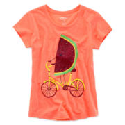 Arizona Short-Sleeve Graphic Knit Tee – Girls Plus