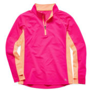 Xersion™ Colorblock Zip-Front Knit Hoodie – Girls 7-16 and Plus