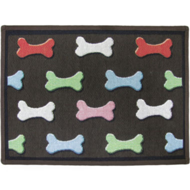 jcpenney.com | PB Paws by Park B. Smith® Bone Collection Tapestry Pet Mat