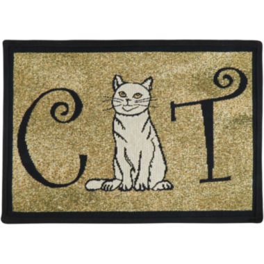 jcpenney.com | PB Paws by Park B. Smith® Cat Person Tapestry Pet Mat