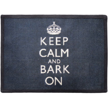 jcpenney.com | PB Paws by Park B. Smith® Keep Calm and Bark On Tapestry Pet Mat