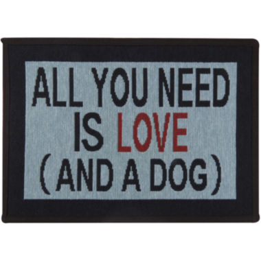 jcpenney.com | PB Paws by Park B. Smith® Need Love and Dog Tapestry Pet Mat