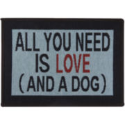 PB Paws by Park B. Smith™ Need Love and Dog Tapestry Pet Mat