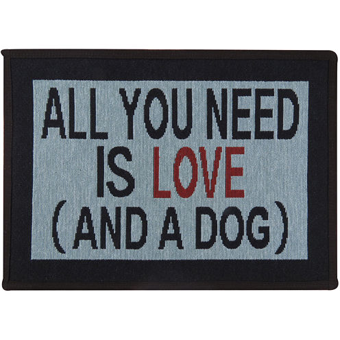 PB Paws by Park B. Smith® Need Love and Dog Tapestry Pet Mat