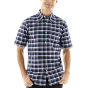 St. John's Bay® Short-Sleeve Easy-Care Oxford Shirt