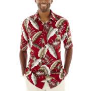 Island Shores™ Short-Sleeve Printed Rayon Sport Shirt