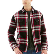 St. John's Bay® Quilted Flannel Shirt Jacket