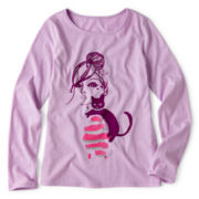 Total Girl® Long-Sleeve Graphic Tee - Girls 6-16 Plus