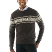 St. John's Bay® Long-Sleeve Crewneck Sweater