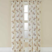 Waterlilly Scroll Rod-Pocket Sheer Panel