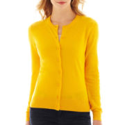 jcp™ Long-Sleeve Crewneck Cardigan Sweater
