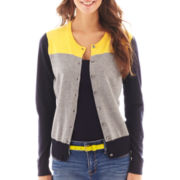 jcp™ Long-Sleeve Crewneck Cardigan Sweater