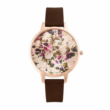 jcpenney.com | Decree Womens Brown Strap Watch-Pt2607arbr