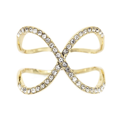 Sparkle Allure Yellow Crystal Cocktail Ring