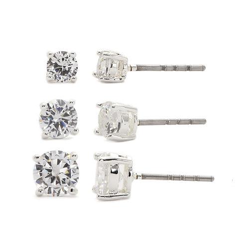 Sparkle Allure Cubic Zirconia Stud Earrings