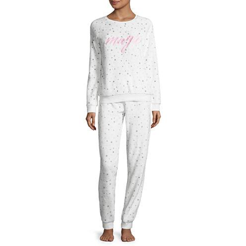 White Magic Plush Pajama Set-Juniors