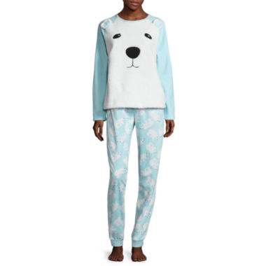 jcpenney.com | Polar Bear Plush Pajama Set-Juniors