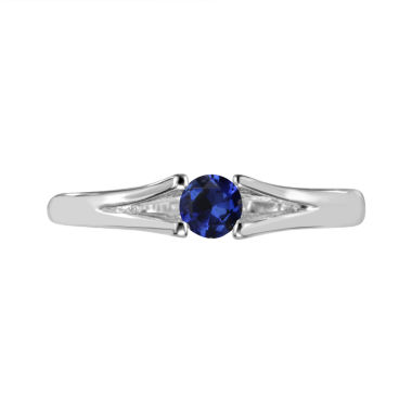 jcpenney.com | Womens Blue Sapphire Sterling Silver Solitaire Ring