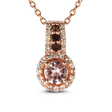 jcpenney.com | Womens Pink Morganite Gold Over Silver Pendant Necklace