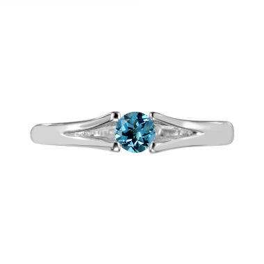 jcpenney.com | Womens Blue Topaz Sterling Silver Solitaire Ring