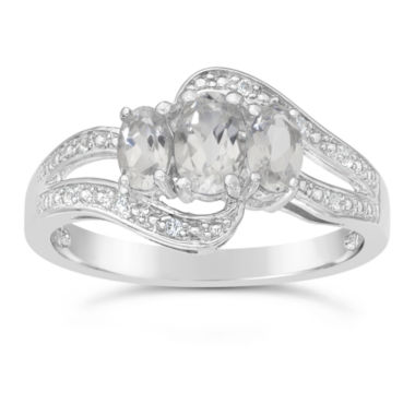 jcpenney.com | Genuine White Topaz Sterling Silver 3-Stone Ring