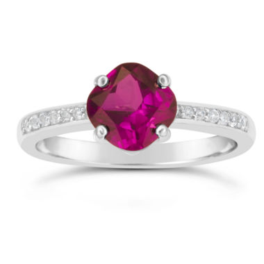 jcpenney.com | Womens Red Ruby Sterling Silver Halo Ring