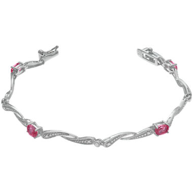 jcpenney.com | Lab-Created Red Ruby Link Bracelet