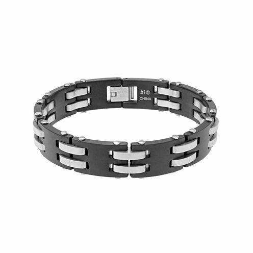 Mens 8.25 Inch Stainless Steel Link Bracelet